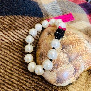 Betsey Johnson Skull Pearl Bracelet